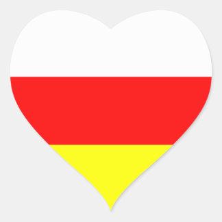 Osetia del Sur Pegatina En Forma De Corazón