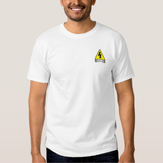 OSHA Electrical Shock (small front design) T-shirts