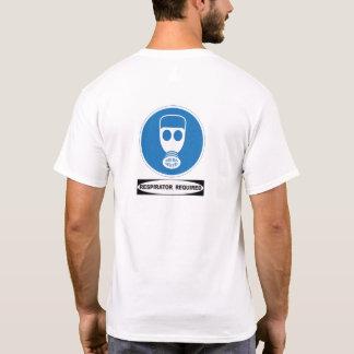 OSHA Respirator Required (back design) T-Shirt