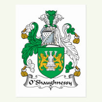 O'Shaughnessy Family Crest Postcard