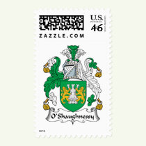 O'Shaughnessy Family Crest Stamps