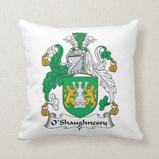O'Shaughnessy Family Crest Throw Pillow
