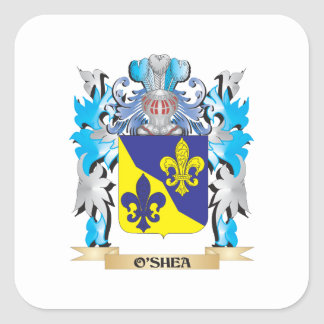 O'Shea Coat of Arms - Family Crest Square Stickers