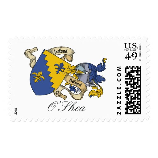 O'Shea Family Crest Postage Stamp