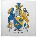 O'Shea Family Crest Printed Napkins