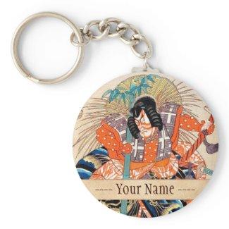 Oshimodori,from the series Eighteen Great Kabuki Key Chains