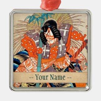 Oshimodori,from the series Eighteen Great Kabuki Christmas Ornament