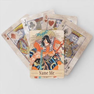 Oshimodori,from the series Eighteen Great Kabuki Bicycle Poker Cards
