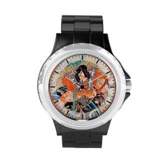 Oshimodori,from the series Eighteen Great Kabuki Wristwatch