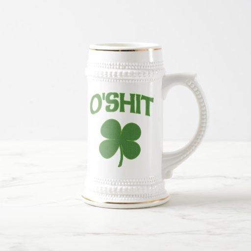 O'Shit Irish Shamrock Beer Stein