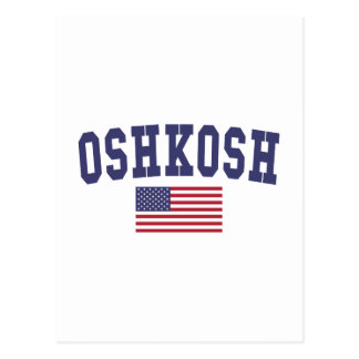 Oshkosh US Flag Postcard