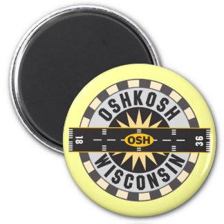Oshkosh, WI OSH  Airport 2 Inch Round Magnet