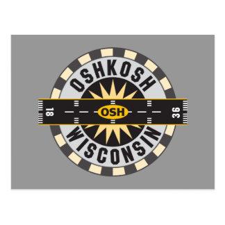 Oshkosh, WI OSH  Airport Postcard