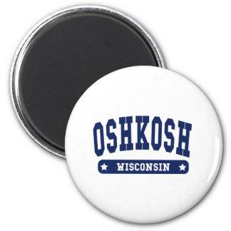 Oshkosh Wisconsin College Style tee shirts 2 Inch Round Magnet
