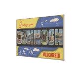 Oshkosh, Wisconsin - escenas grandes de la letra Impresión En Lienzo Estirada