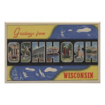 Oshkosh, Wisconsin - escenas grandes de la letra Póster
