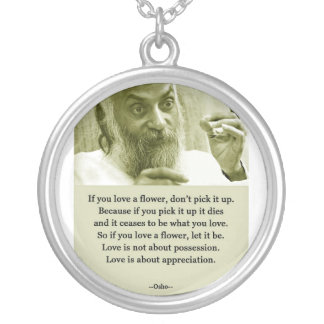 Osho Silver Plated Necklace