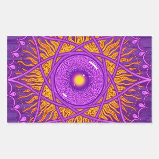 osholo Purple mandala Rectangular Sticker
