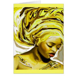 OSHUN EDE BY LIZ LOZ GREETING CARD