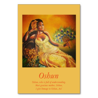 Oshun Table Card