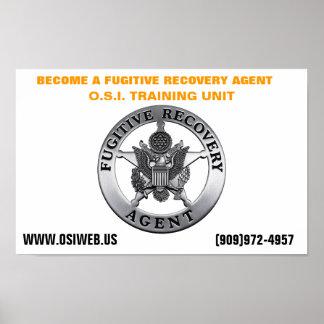OSI Fugitive Recovery Training Unit Poster