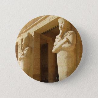 Osirian statues of Hatshepsut -  female pharaoh Pinback Button