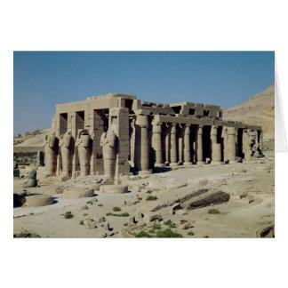 Osiride figura Ramesses II que flanquea las parede Tarjeton