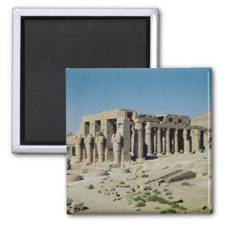 Osiride figures Ramesses II  flanking the walls Magnet