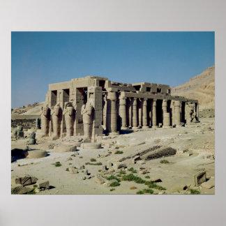 Osiride figures Ramesses II  flanking the walls Poster