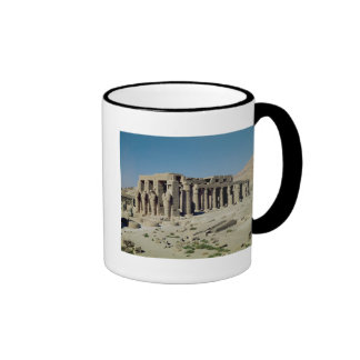 Osiride figures Ramesses II  flanking the walls Ringer Coffee Mug