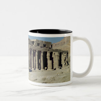 Osiride figures Ramesses II  flanking the walls Two-Tone Coffee Mug