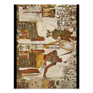 Osiris and Atum Seated with_Art of Antiquity Poster