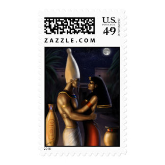Osiris and Isis Postage Stamp