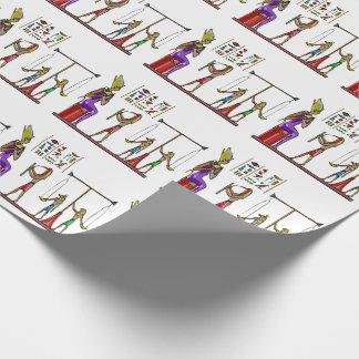 Osiris Egyptian Folk Double Graphic Wrapping Paper