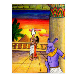 Osiris, Isis, and Seth: Obsession Postcard
