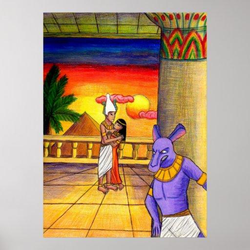 Osiris, ISIS, y Seth: Impresión de la obsesión Póster