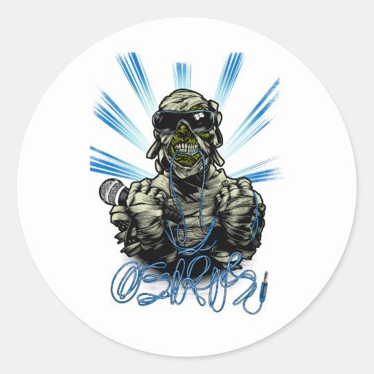 Osiris Mummy Classic Round Sticker