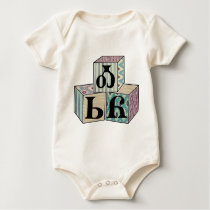 Osiyo - Cherokee Greeting Blocks Baby Bodysuit