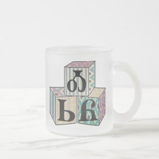 Osiyo - Cherokee Greeting Blocks Frosted Glass Coffee Mug