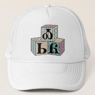 Osiyo - Cherokee Greeting Blocks Trucker Hat