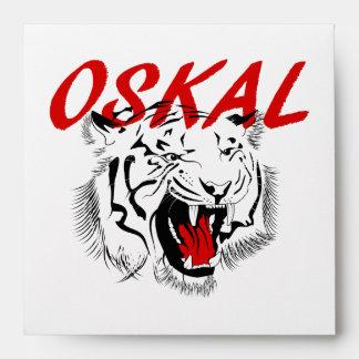 Oskal Tiger Tattoo Envelope