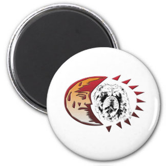 Oskar im Mond 2 Inch Round Magnet
