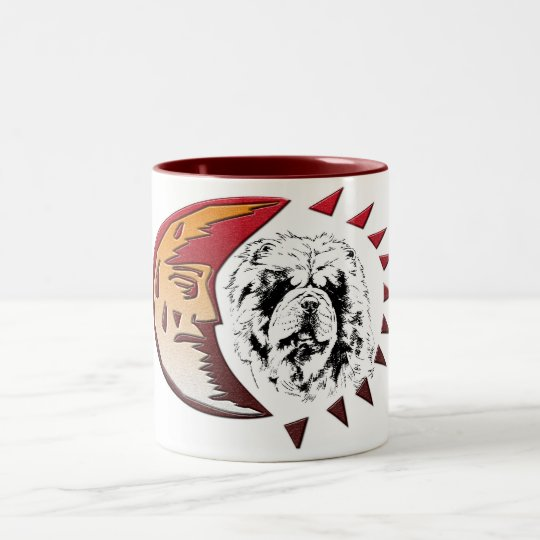 Oskar im Mond Two-Tone Coffee Mug