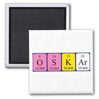 Oskar periodic table name magnet