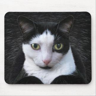 Oskar, the Tuxedo Cat Mouse Pad