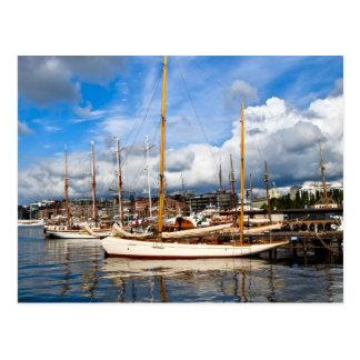 Oslo Boats in the marina Postcard