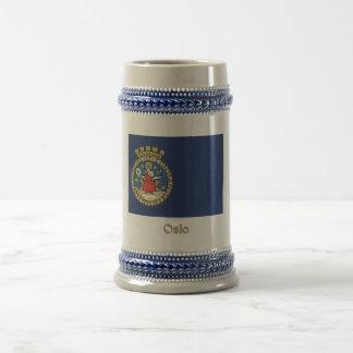 Oslo flag with name coffee mug