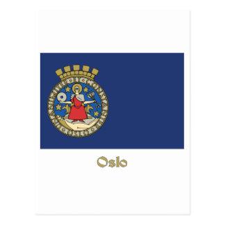 Oslo flag with name postcard