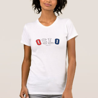 Oslo in Norway national flag colors T-Shirt