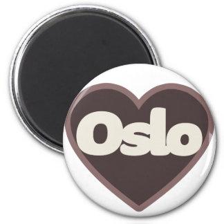 Oslo love 2 inch round magnet